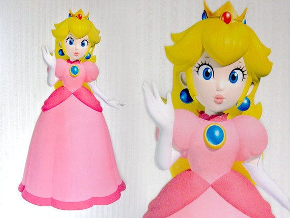 Items Similar To Super Mario Princess Peach Giant Wall
