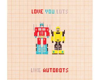 Love You Lots Like Autobots - Transformers - Love Romantic Card