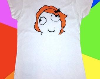 Derpina Rage Face Meme T-Shirt