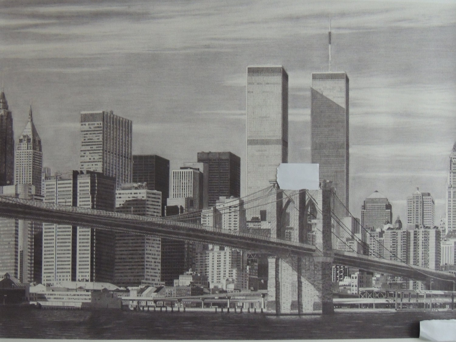 This is a picture of Gratifying Twin Towers Drawing