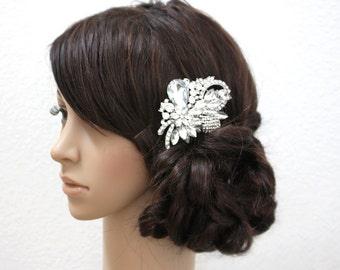 ANALISA - Vintage Inspired Crystal Rhinestone Bridal Hair Comb, Rhinestones Wedding Hair Comb, Crystals Bridal Headpiece
