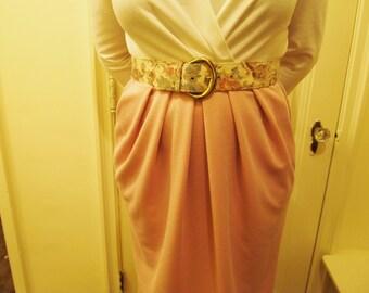 80s Yuppie Day Dress Size L