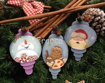 Christmas Ornaments  e-pattern available in Italian or English