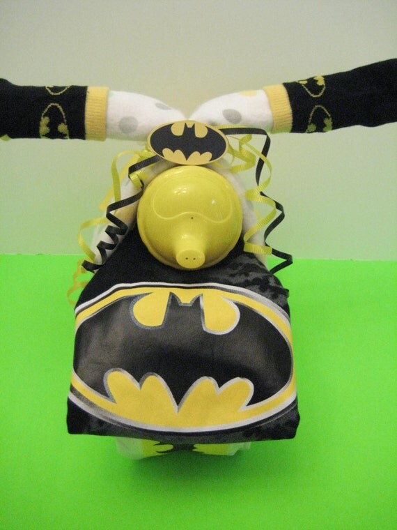items similar to batman baby boy motorcycle diaper cake baby shower