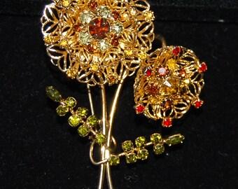 signed alice caviness flower brooch