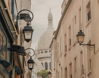Montmartre, Paris Photography - Pastel Sacre Couer - Fine Art Print, Pastels, Pink, Street photography, Home Decor