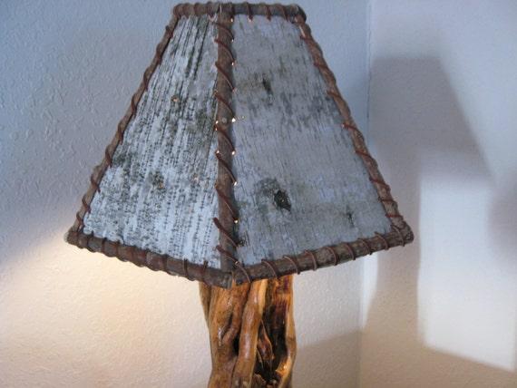 BIRCH BARK LAMP Shade Rustic Lamps Shades - Beautiful diy birch bark lamp