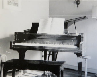 Vintage Odd 1940's Conover Grand Piano Snapshot Photo - Free Shipping