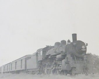 Vintage 1948 Chicago & Northwestern Railway Engine No. 450 RPPC Real Photo Postcard - Free Shipping