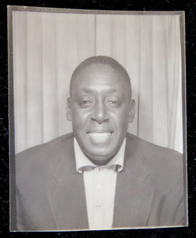Vintage 1950 S African American Handsome Black Man Photo