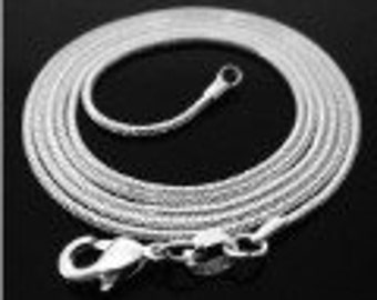 "24"" Sterling Silver Snake Chain Necklace"