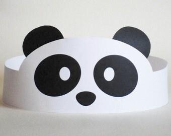 Panda Paper Crown - Printable