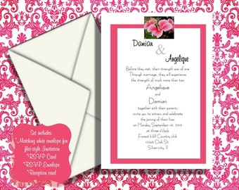SAMPLE One full set of wedding invitation