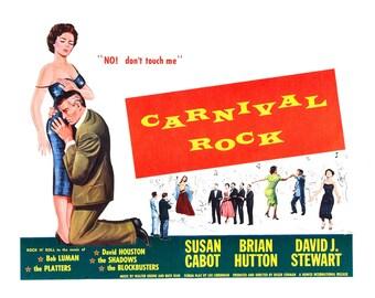 Vintage Wall Art Rock n Roll Movie Poster Print Carnival Rock re-print Various Sizes