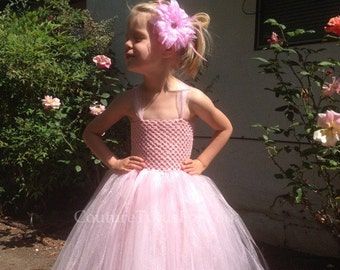Pink Puff, pink tulle dress, tulle dress, pink tutu dress, pink dress, pink tutu, pink tulle flower girl dress, birthday dress