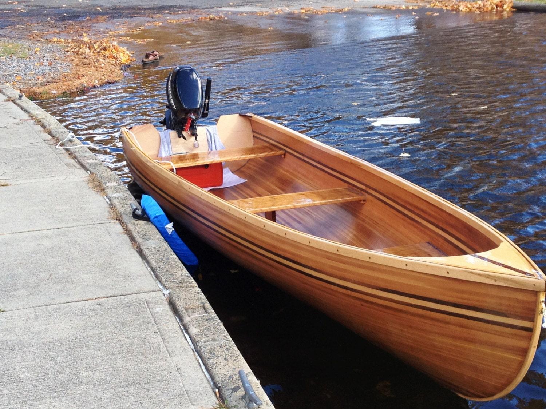 Hand Built Cedar Strip Wooden Boat
