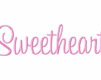Sweetheart Machine Embroidery Fonts 1089