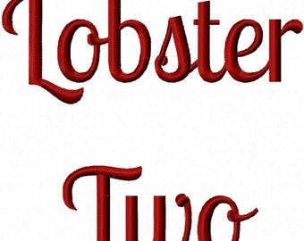 Lobster Two Machine Embroidery Fonts 1444