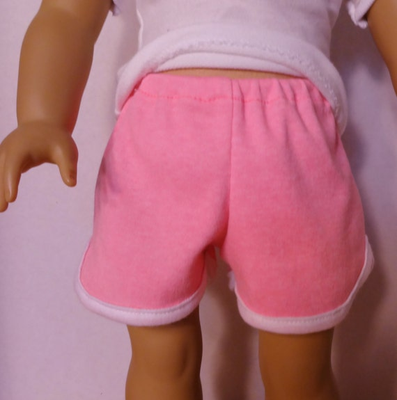 Neon Pink Track Shorts for American Girl - Doll cClothes Sale