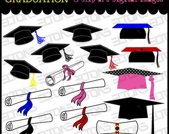 Graduation Clip Arts, Printable Clip Arts Graduation Caps and Diplomas for Invitations