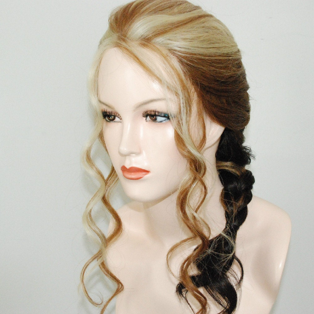 Lace Front French Braided Wig With Ombre Mix Undo The Braid
