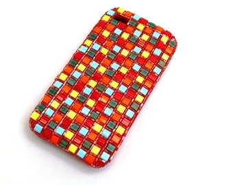 "iPhone case Silicon case ""Mosaic - Karo"", cell phone case, cell phone cover Samsung"