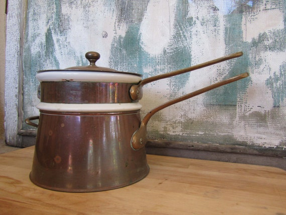 Vintage French Double Boiler or Bain Marie- Bazar France 666