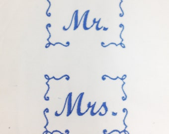 Classic Mr. and Mrs. Pillowcase Machine Embroidery Design
