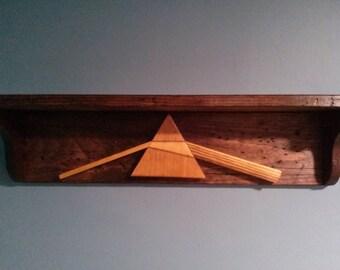 Distressed Wood Shelves (Pink Floyd)