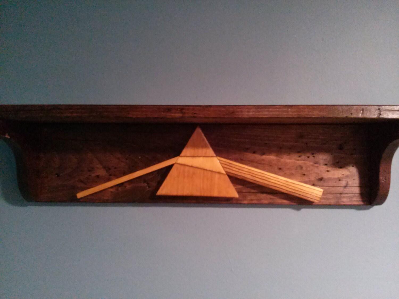 Distressed Wood Shelves Pink Floyd