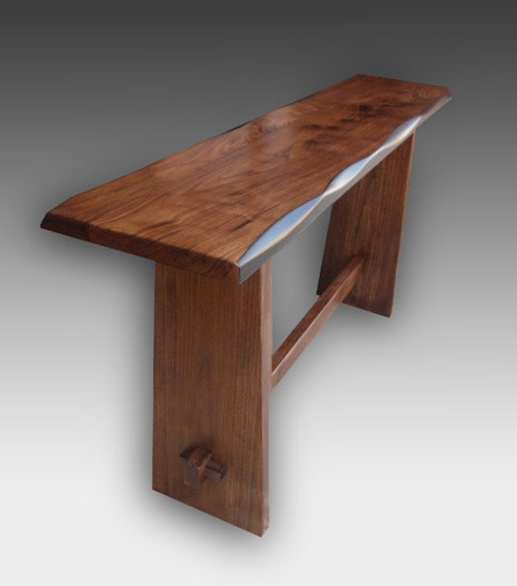 Japanese kyoto style console table walnut by jtansu on etsy