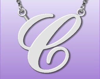 Sterling Silver Handmade Initial Necklace ANY Letter of your choice