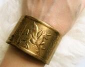 Brass Pegasus Unicorn Cuff Bracelet- Vintage 1970s