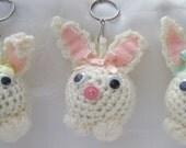 Little White Rabbit Keyring