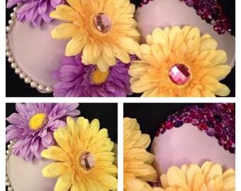 Lavender Elegance Rave Bra.. size 34C  ---  Original Electronic Couture