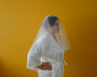Bridal veil, traditional veil, tulle veil, crown veil, bridal crown, 2 -Tiers,cathedral veil