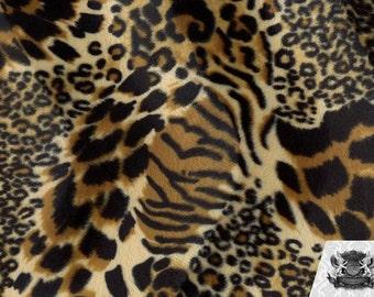 Mixed Animal Velboa Animal Print Fabric Sold by the Yard