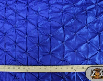 "Taffeta BELLY BUTTON Royal Blue Fabric / 48"" Wide / Sold by The Yard"