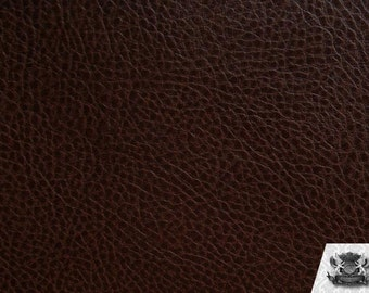 "Vinyl Ford Espresso Fake Leather Upholstery Fabric / 54"" Wide / Sold By the Yard"