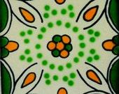 Mexican Tile  Handmade Talavera TILE Mosaic Ceramic Tiles (82) - 90 PIECES