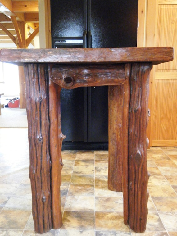 items similar to driftwood kitchen island table on etsy