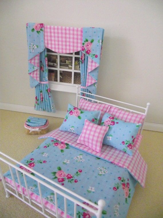 Items Similar To Handmade Miniature Dolls House Furniture White Double Bed With Bedding And