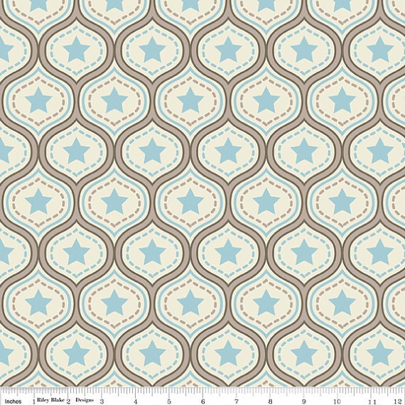 Sale fat quarter one for the boys damask in blue cute for Boys cotton fabric