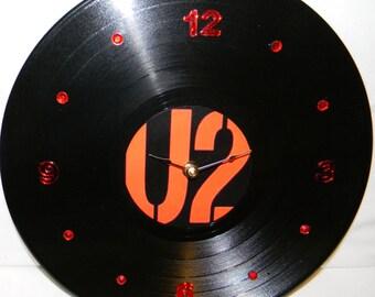 U2 Inspired Vinyl Record Wall Clock