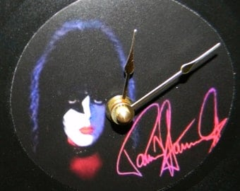 KISS PAUL STANLEY Inspired Vinyl Record Wall Clock