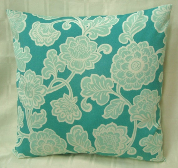 Funky decorative indoor outdoor throw pillow cover with a variety of shades of green