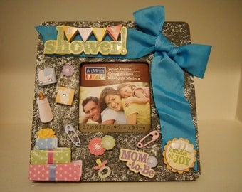 Baby Shower Picture Frame  Mom to Be  Baby Shower  Baby Gift  Bundle of Joy