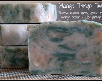 Mango Tango Twist - Rustic Suds Natural - Organic Goat Milk Triple Butter Soap Bar - 5-6oz. Each