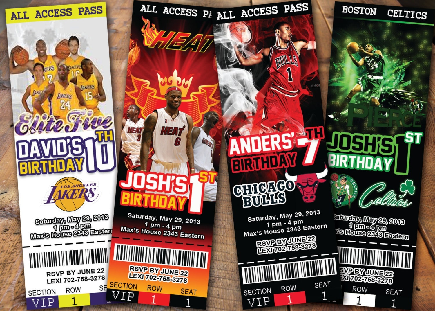 NBA Invitations - Ticket basketball Pick Any Team in NBA