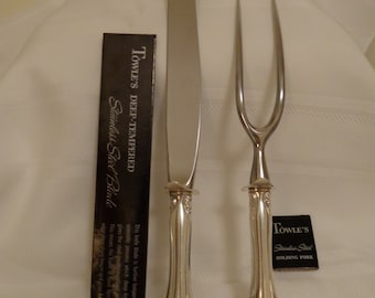 Towle French Provincial sterling silver roast carving set